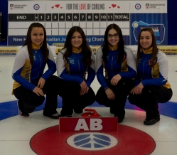 Shawinigan, Quebec 2018 New Holland Canadian Junior Curling Championships Team Alberta Skip: Kayla Skrlik Third: Ashton Skrlik Second: Hope Sunley Lead: Megan Johnson curling canada/michael burns photo