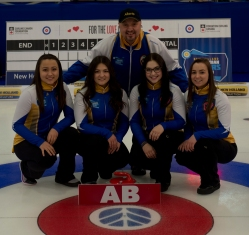 Shawinigan, Quebec 2018 New Holland Canadian Junior Curling Championships Team Alberta Skip: Kayla Skrlik Third: Ashton Skrlik Second: Hope Sunley Lead: Megan Johnson Coach: Charles Simoneau curling canada/michael burns photo